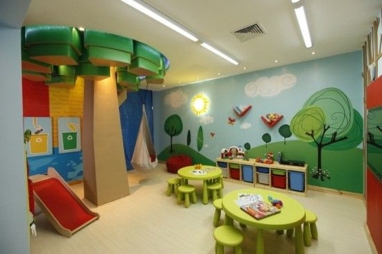 I want to do that tree in the school room with a reading area below, and that mural in the girls room