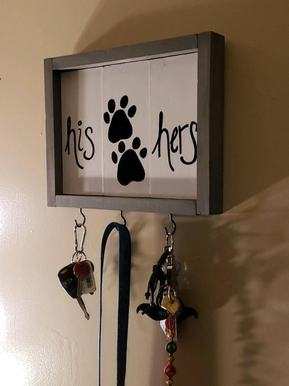 His Hers Dog Key Holder Pet Leash Key Hanger Organizer Home Wall Decor Dog Leash Hooks With Key Holders For Entryway Rustic Homes Decor Dog Leash Hook Pet Leash Pet Leash