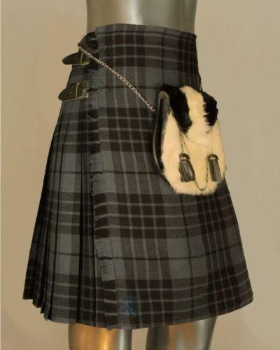 Gray-Hamilton-Tartan-Kilt-by-Scottish-Kilt-Waist-32-34-36-44-46-Lenght-24