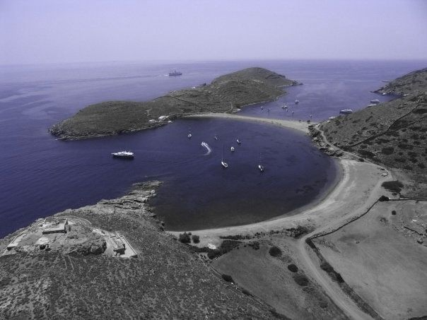 Colona beach of kythnos Cyclades