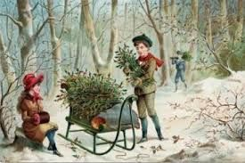 currier and ives christmas print