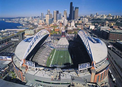 CenturyLink Field. Capacity	67,000. ------October 14, 2002 - The new home of the Seattle Seahawks