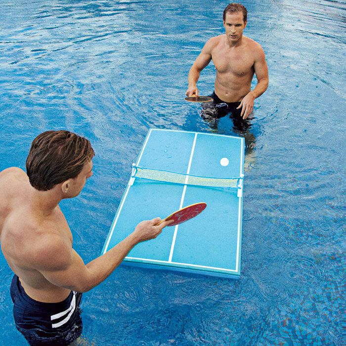 Floating Waterproof Table Tennis - DIY project for the Styrofoam that I recycled from the old Jacuzzi cover!