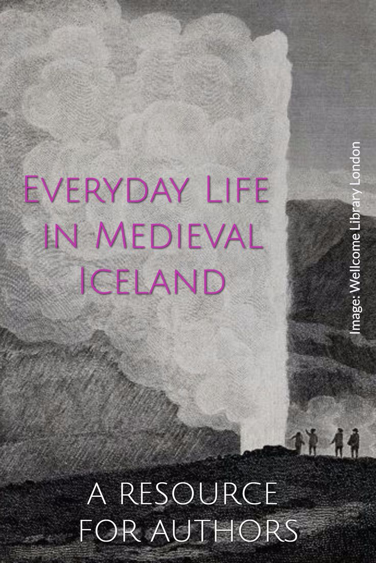 A RESOURCE  FOR AUTHORS at http://howtowritehistory.com/food-iceland/ // / Everyday Life  in Medieval Iceland / Image: Wellcome Library London  // If you write historical fiction about the middle ages, or historical novels set in the 18th, 19th or 20th century, browse the Resources For Writers.