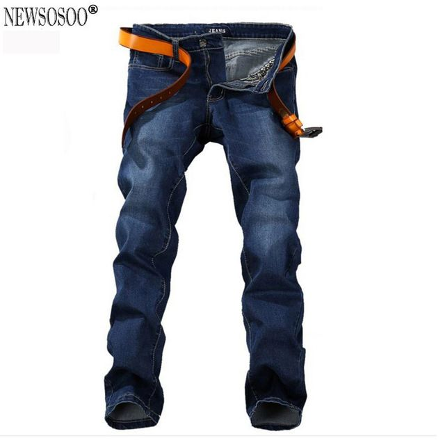 Fair price Newsosoo Plus size 28-48 men's jeans good quality straight stretch jeans men hot sale low price designer mens jeans pants MJ28 just only $22.87 - 27.99 with free shipping worldwide  #jeansformen Plese click on picture to see our special price for you