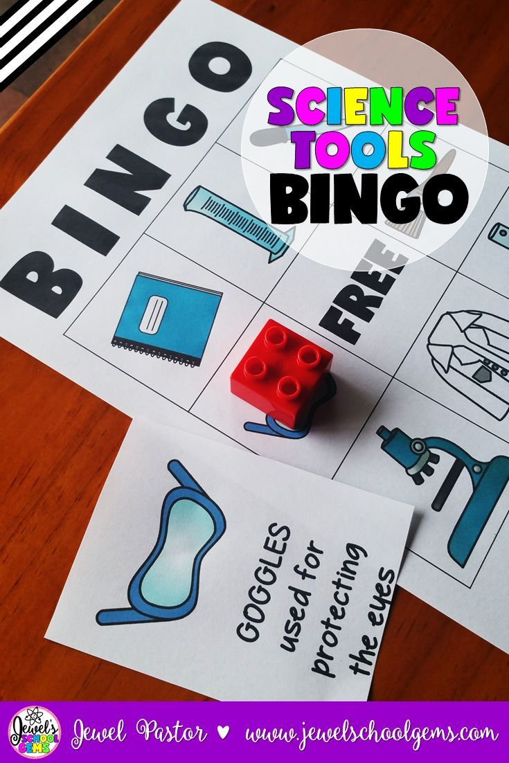 Science Bingo $  In search of fun science activities for back to school or just to introduce science tools/equipment to your students? Engage your kiddos this with this fun Science Tools Bingo! This packet contains instructions, patterns, bingo cards, a call sheet and call cards on science equipment. Click through to see it on TeachersPayTeachers!