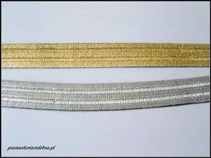 złota guma do spódnic, spodni, pasków itp. - 25mm