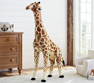 Totally ordered this and it is an amazing touch! Got it on sale and it was worth every penny :) Was originally going to order the giraffe decal from PB Kids, but when I saw this (and it wasn't hundreds of dollars like at FAO), I was sold! Especially because it ended up being half the price of the wall decal- imagine that! Jumbo Giraffe Plush #pbkids