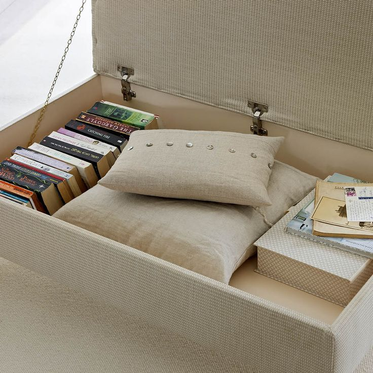 Living room a mess of books, magazines, paperwork and general clutter? Hide it away in an instant in our stylish footstool with storage space beneath the lid. The room can be transformed in seconds... Find it at www.thedormyhouse.com #storage