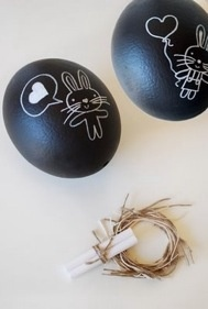 Chalkboard Easter Ostrich Eggs! Created by Lisa Tilse of Sydney based online store The Red Thread.