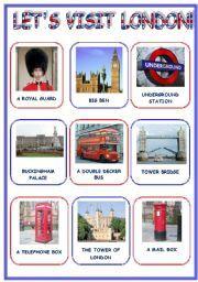 English worksheet: LET´S VISIT  LONDON! (3 pages)