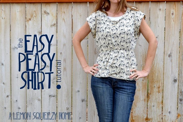 EASY PEASY SHIRTKnits Shirts, Diy Shirt, Sewing Projects, Knits Tops, Peasy Shirts, Shirts Pattern, Shirts Tutorials, Sewing Tutorials, Easy Peasy
