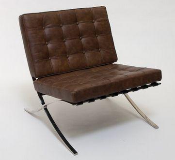Barcelona Chair Brown - £700.00 - Hicks and Hicks