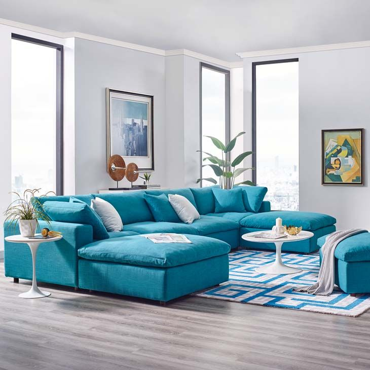 Commix Down Filled Overstuffed 6pc Sectional Sofa Collection Las Vegas Furniture Store Modern Home Furniture Cornerstone Furniture Sectional With Ottoman Sofa Set Sectional Sofa
