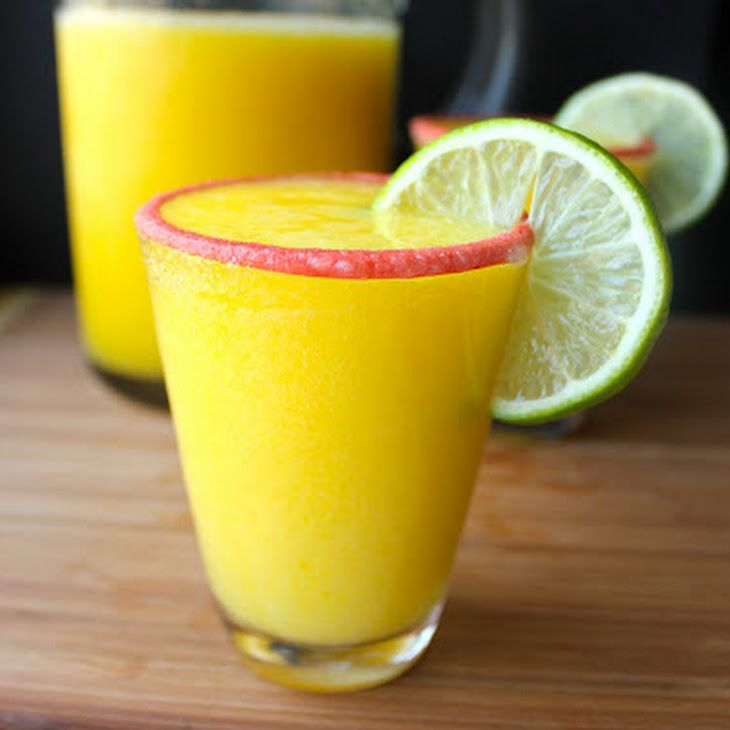 Mango Margaritas Recipe Cocktails, Beverages with mango, fresh lime juice, light agave nectar, tequila, ice, salt, lime slices