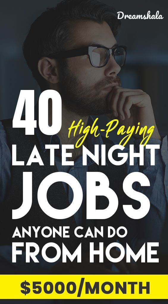 40 Genuine Late Night Work From Home Jobs For Everyone In 2020 With Images Work From Home Jobs Night Jobs