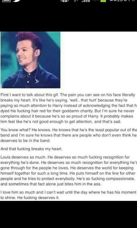 Louis we all love you!!!! :'(