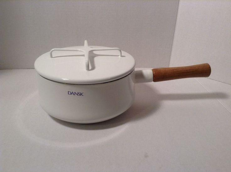 dansk kobenstyle 2 quart saucepan modern mid white new in box factory second