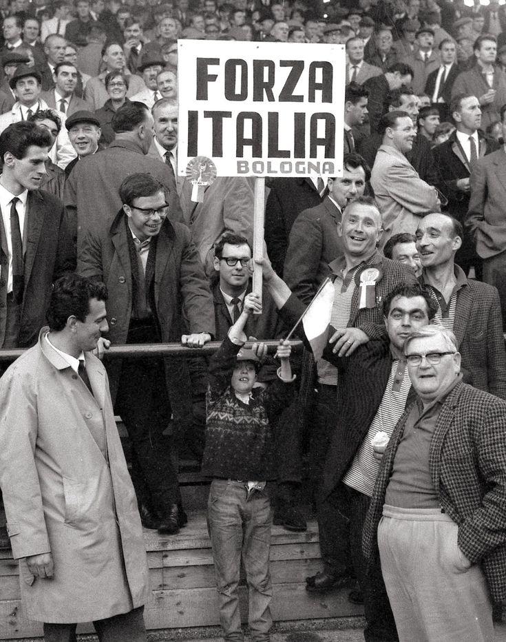 Forza Italia. Young Azzurri fan at the World Cup, 1966.