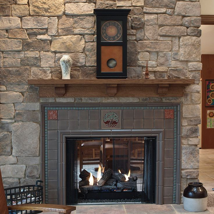 34 best images about craftsman mantle and fireplace ideas for Craftsman fireplaces photos