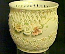 "Floral Bowl -Approximately 5"" x 5"" accros...Open filigree work around top *Originally priced at $21.95...NOW 55% OFF $9.87"