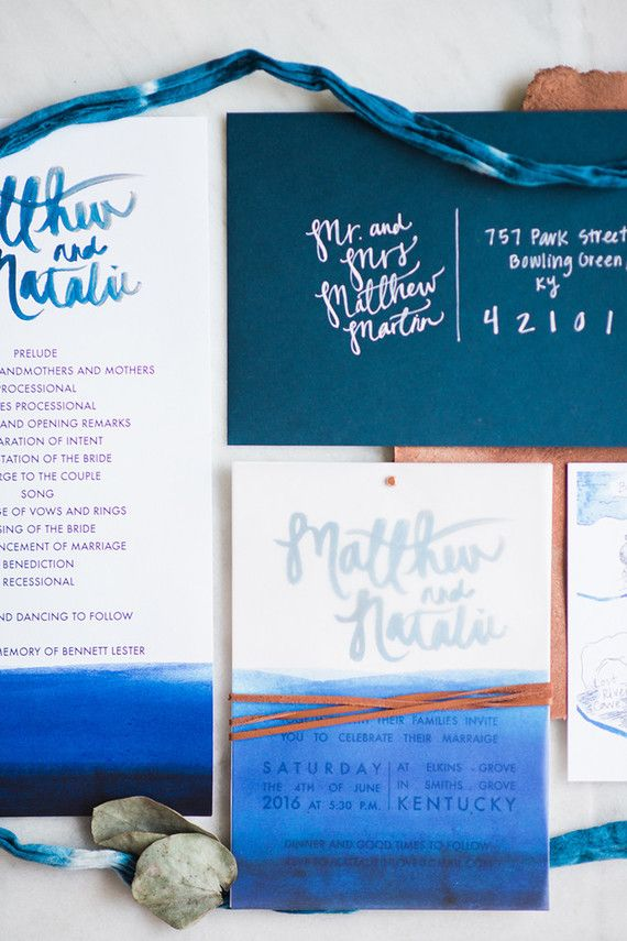 funny personal wedding card matter%0A Indigo wedding invitations