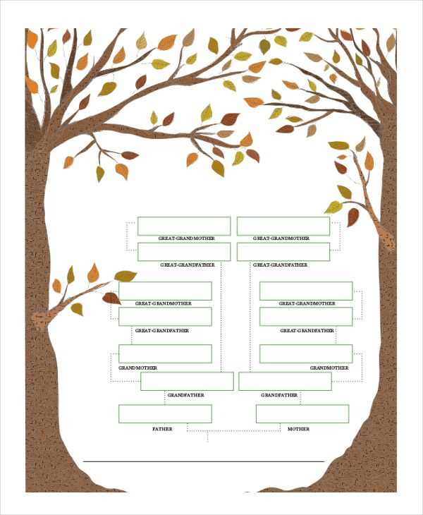 family tree template for kids pdf