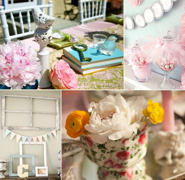 shabby chic baby shower vintage baby showers chic baby showers blue