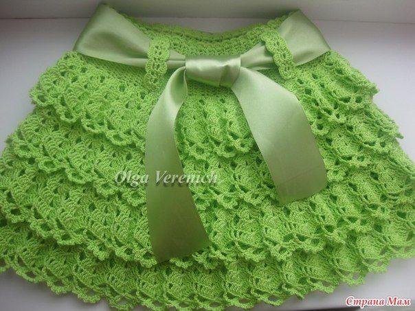 Molde para hacer una falda a crochet