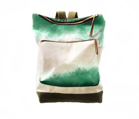 Jade City Backpack: Canvas Leather, Style, Stormy Weather, Cities Backpacks, Hands Dyed, Dualist Series, Leather Backpacks, Bags, Canvases