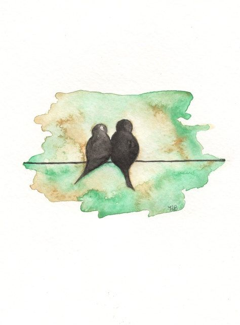 I  truly love bird art!  So sweet are these Love Birds. $14.00