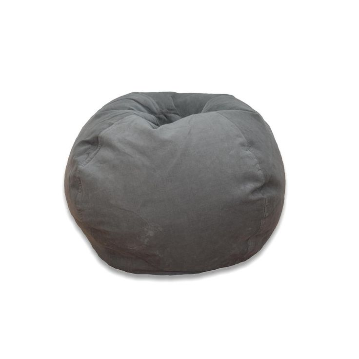 Vintage Slate Medium Solid Corduroy Bean Bag Grays