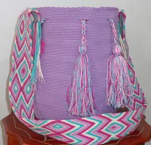 Mochila Wayuu Lila