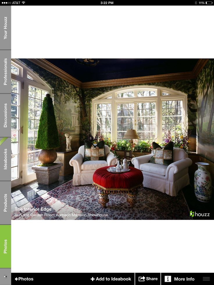 Fresh Sun and Garden Room Aurbach Mansion Showhouse eclectic living room new york The Interior Edge