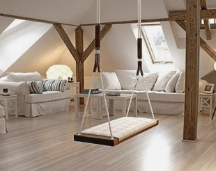 Indoor Swing - Its a little outrageous, but I have the perfect spot for this in the new house. new-house