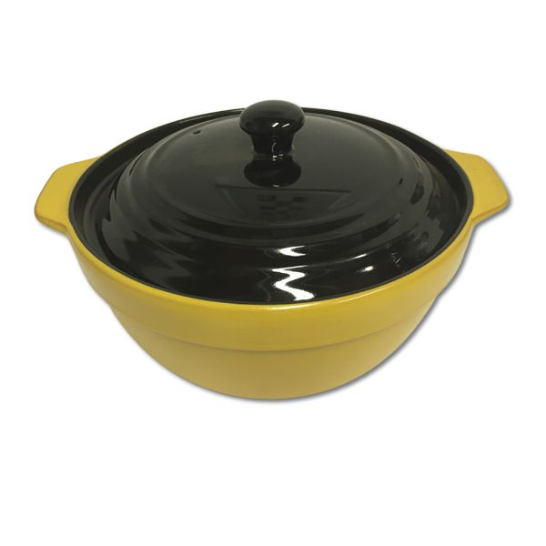 These nifty pots can be used on gas, electrical and induction stove tops, as well as in the oven and microwave. The bright colours and black lid also bring some