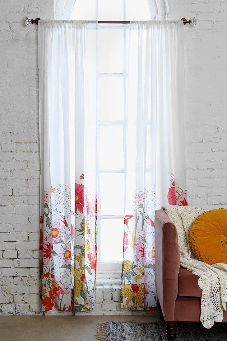Plum & Bow Wallflower Curtain #urbanoutfitters