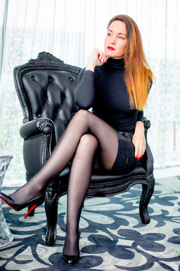 Fashionlook Lederrock Trifft Wolford Top Amp Nylons