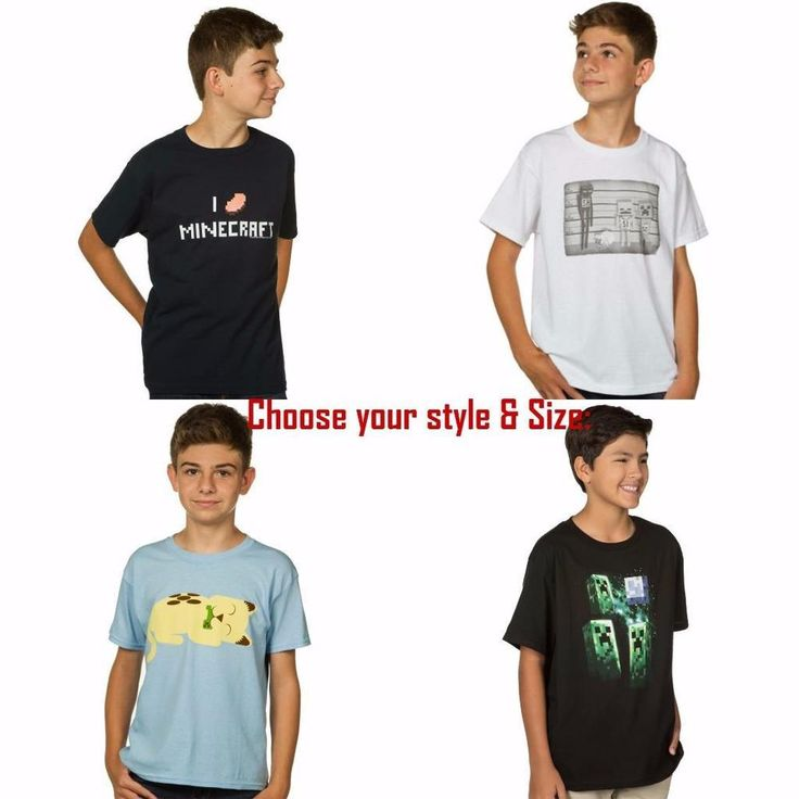 Minecraft Boys Youth Short Sleeve T Shirt Tee - Priced to Clear Free Shipping