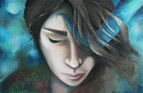Guarda questo articolo nel mio negozio Etsy https://www.etsy.com/it/listing/503394330/dipinto-il-tempo-e-unillusione-ritratto