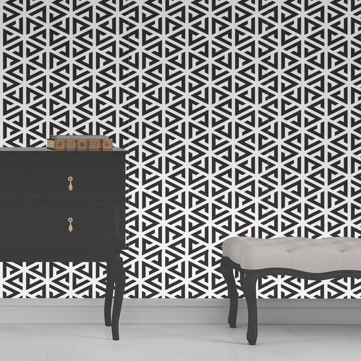 Triangles Wallpaper Panels Peel And Stick Wallpaper Geometric Removable Wallpaper
