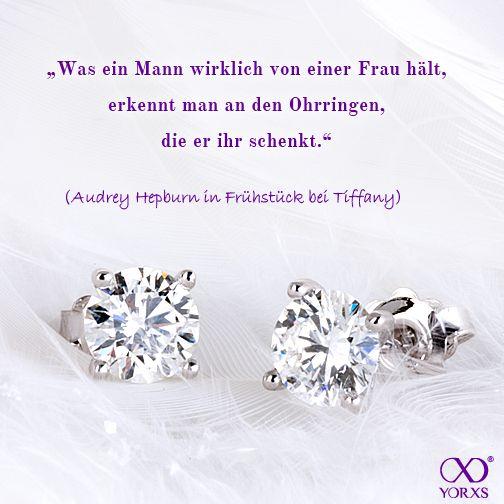 #AudreyHepburn, we agree! #Yorxs #Diamantohrringe