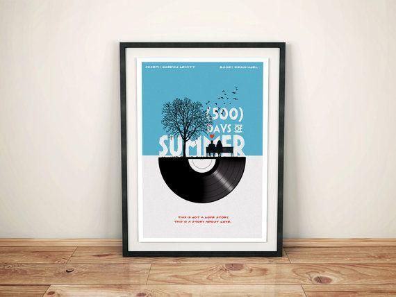 Alternative 500 Tage Sommer Film Poster Film von goldenplanetprints