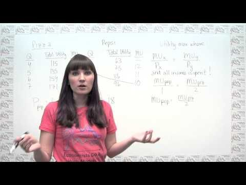 Microeconomics Practice Problem - Utility Maximization Using Marginal Utility and Prices - YouTube