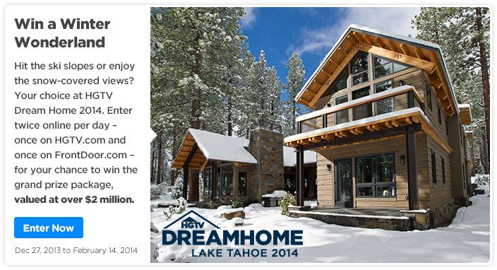 Home » Register To Enter Hgtv Dream Home Sweepstakes 2014