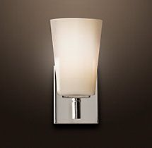 """Can install down - Modern Single Sconce  (4½""""W x 7""""D x 9¼""""H)   $75.00"""