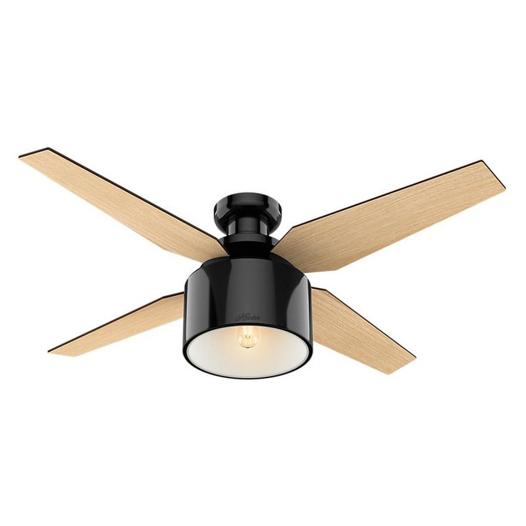 Hunter Cranbrook 52 in. Low Profile Indoor Ceiling Fan with Light and Remote - 59259
