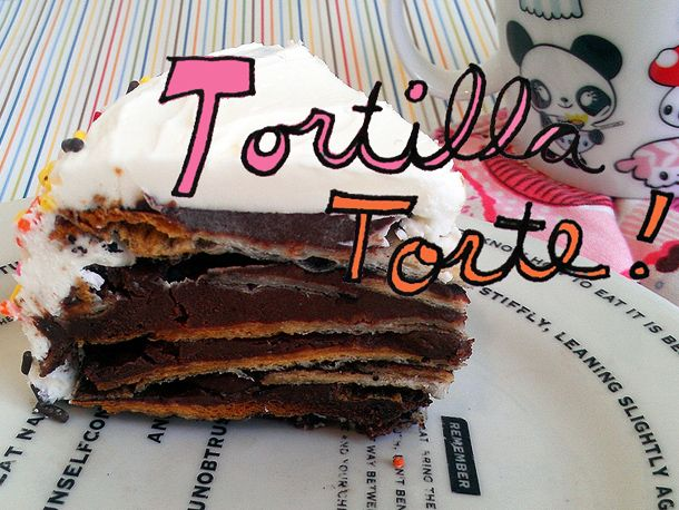 Tortilla Torte from Serious Eats: Chocolates Cream, Sour Cream, Homemade Tortillas, Chocolates Tortillas, Yummy Recipe, Sweet Treats, Tortillas Desserts, Tortillas Torte, Favorite Recipe