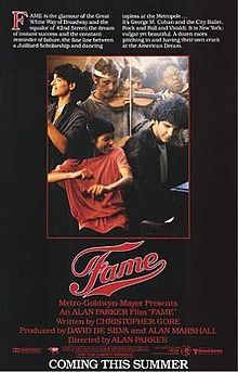 Fame : 1980... maybe, the beginning of music movie...? Well,there were Grease or Saturday Night Fever, though.