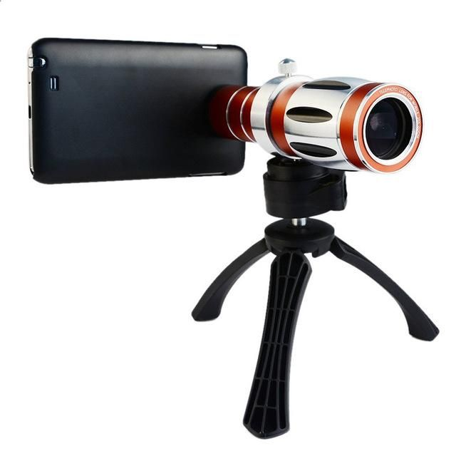 20X Zoom:800M Telescope Telephoto Universal Magnifier Zoom Manual Focus Camera Lens+ High-end Tripod For S7 S8 Watching travel